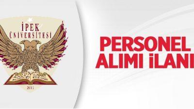 İpek Üniversitesi Personel Alım İlanı
