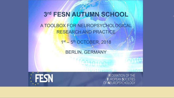 Avrupa Nöropsikoloji Topluluğu (FESN) Sonbahar Okulu