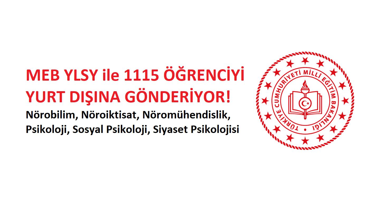 MEB 1115 Öğrenciyi YLSY Bursuyla Yurtdışına Gönderiyor!