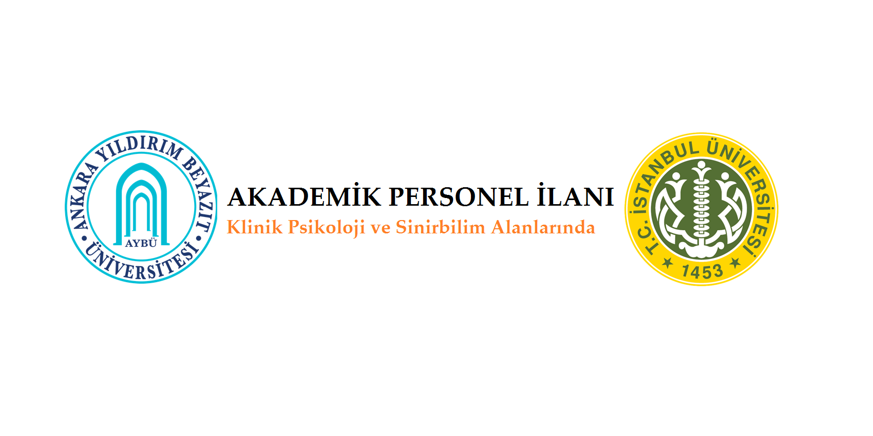 İstanbul ve Ankara Yıldırım Beyazıt Üniversiteleri Akademik Personel İlanları