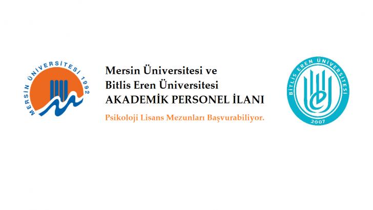 Mersin ve Bitlis Eren Üniversiteleri Akademik Personel İlanı