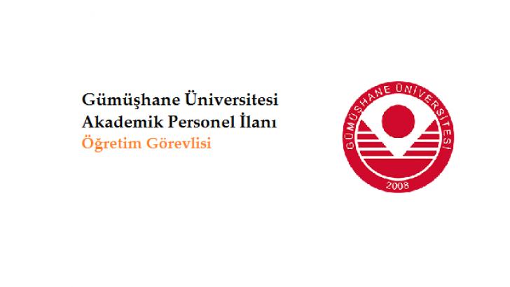 Gümüşhane Üniversitesi Öğretim Görevlisi Alım İlanı