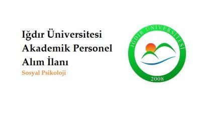 Iğdır Üniversitesi Akademik Personel İlanı