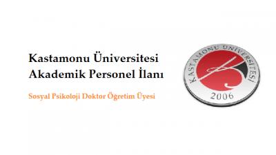 Kastamonu Üniversitesi Akademik Personel İlanı