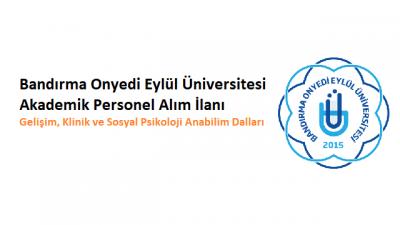 Bandırma Onyedi Eylül Üniversitesi Akademik Personel İlanı